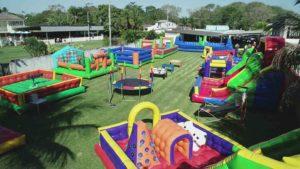 parque inflável para festa econômica